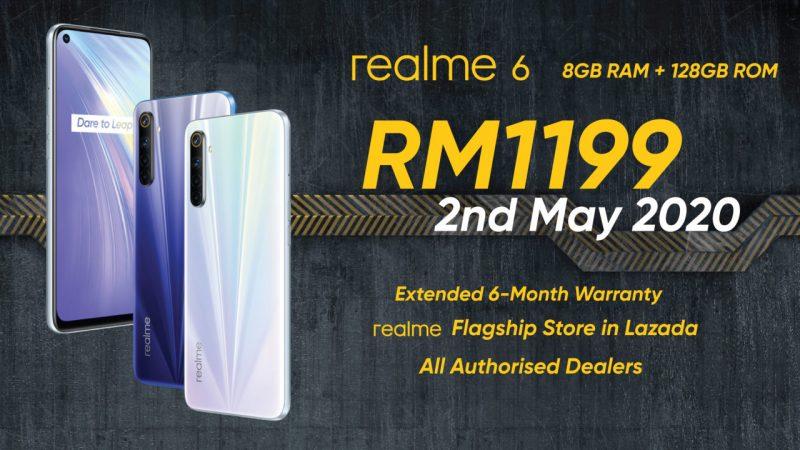大马推出realme6 8+128GB版本,只需RM1199!5月2日开卖!-Woah.MY