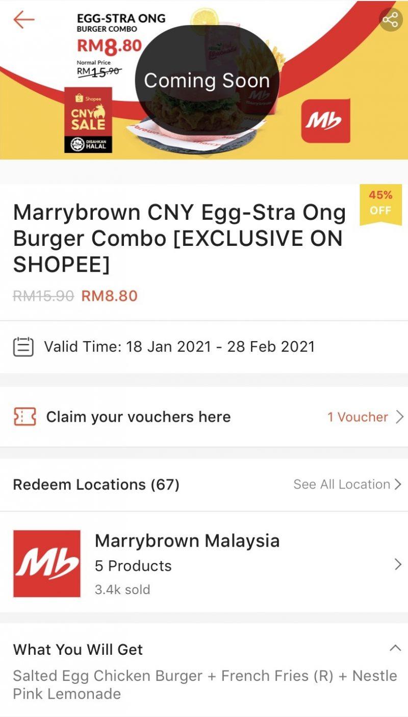 少女心爆棚!MarryBrown 推新年限定粉红咸蛋汉堡包!1月16日购买指定套餐只需RM8.80!