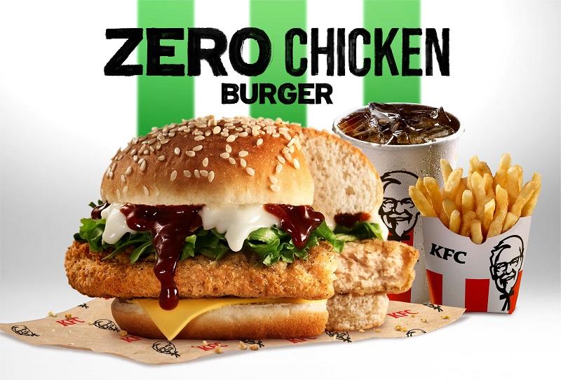 """""""吃起来像鸡肉,却不是鸡肉"""" KFC推出全新Zero Chicken汉堡 !"""