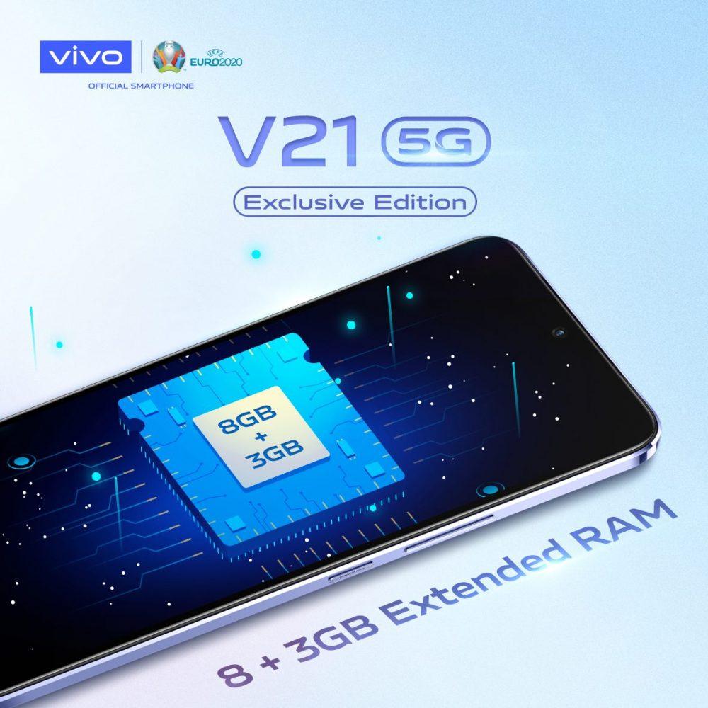 荣登全球增长第二快5G手机品牌!vivo V21 5G 将于7月10日推出限量版北极白配色!-Woah.MY