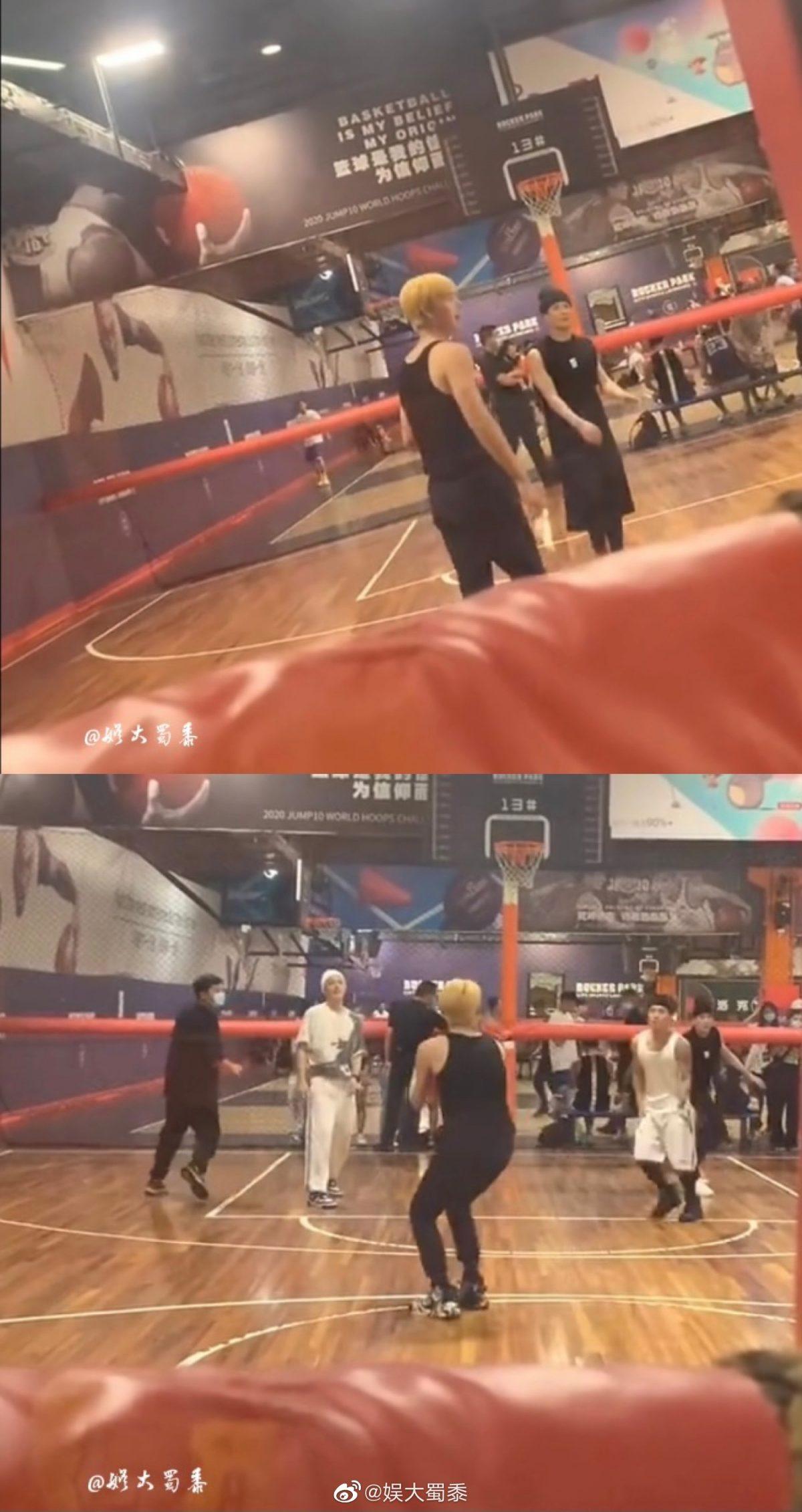 酸了!网友偶遇王嘉尔、陈飞宇、魏大勋打篮球!网友喊话白敬亭:他们打球没叫你!-Woah.MY