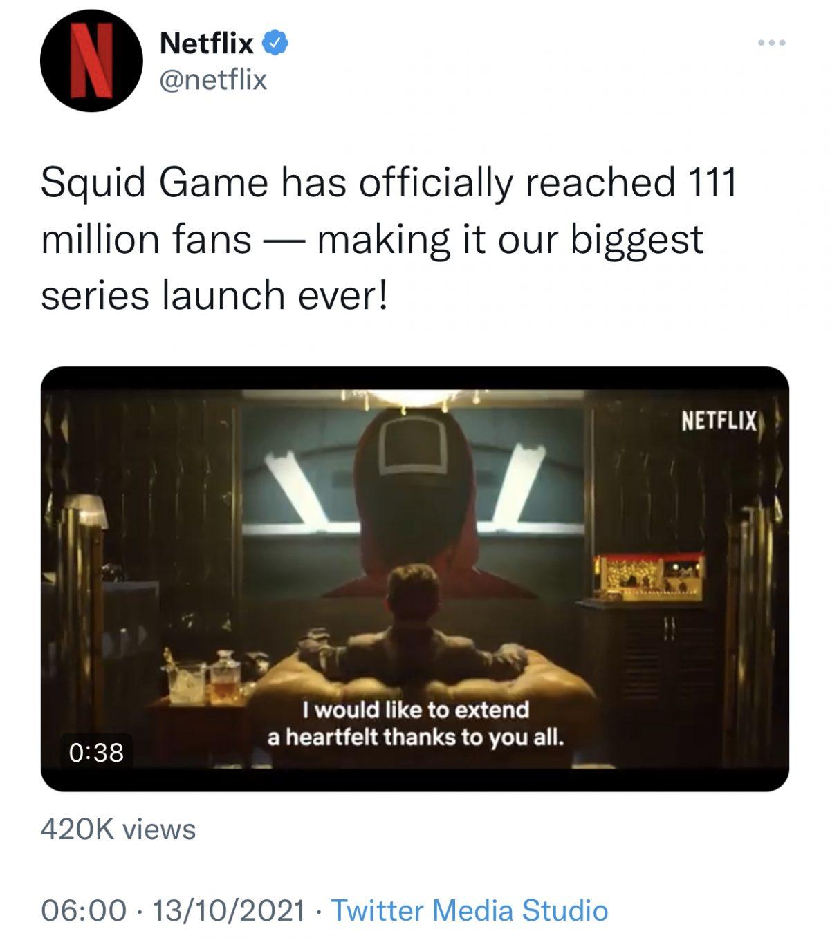 超越《Bridgerton》!《鱿鱼游戏》成Netflix史上开播观看量最高剧集!-Woah.MY